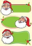 Знамена Санта Клауса - иллюстрация Стоковые Изображения