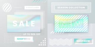Знамена сети дизайна вектора для продажи, плакаты бесплатная иллюстрация