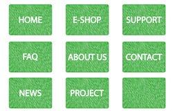 Знамена сети меню Scribble Стоковое Изображение