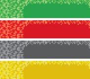 Знамена сети пиксела Стоковые Фото