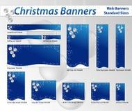 Знамена сети рождества стоковые изображения rf