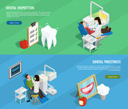 Знамена стоматологии равновеликие горизонтальные Стоковая Фотография