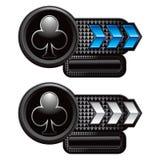 знамена стрелки чешут checkered клуб играя костюм Стоковая Фотография RF