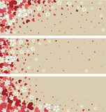 Знамена с цветками и сердцами вишни. Des весны бесплатная иллюстрация