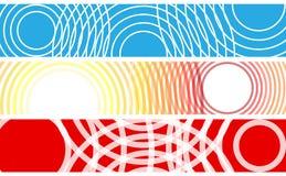 Знамена с cricles Стоковые Фотографии RF