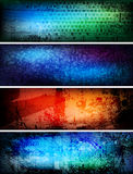 знамена творческие Стоковое Изображение