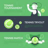 Знамена тенниса Стоковая Фотография RF