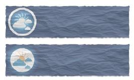 знамена установили 2 Стоковые Изображения RF