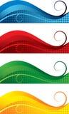 знамена установили иллюстрация вектора