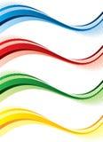 знамена установили Стоковое Изображение