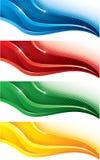 знамена установили Стоковая Фотография