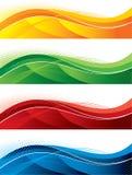 знамена установили Стоковое Изображение RF