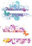 знамена флористические Стоковые Изображения RF