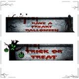 Знамена хеллоуин изолировали Стоковые Изображения