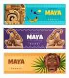 Знамена цивилизации Майя горизонтальные бесплатная иллюстрация