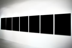 знамена черные пустые большие 7 Стоковая Фотография RF
