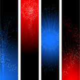знамена четвертое -го июль Стоковые Фото