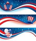 знамена четвертое -го июль иллюстрация штока