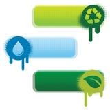 знамена экологические Стоковые Фотографии RF