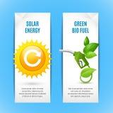 Знамена экологичности вертикальные в бумажном стиле бесплатная иллюстрация
