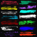 Знамена для красивого собрания текстур grunge конструируют Стоковое фото RF