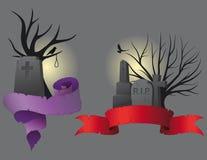 знамена halloween Стоковые Фотографии RF