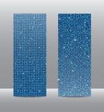 Знамена sequins вертикали установленные голубые glitter бесплатная иллюстрация