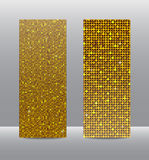 Знамена sequins золота вертикали установленные glitter иллюстрация вектора