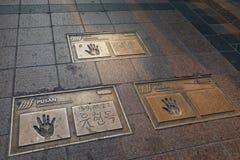 Знаменитости (кинозвезда) fingerprint на квадрате международного кинофестиваля Пусана (BIFF) в Nampo-Дуне, Jung-gu Стоковое Изображение RF