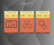 3 знамени тарифов Таблица оценки сети Дизайн вектора для сети app Установите тарифы План для вебсайта в плоском дизайне Стоковая Фотография RF