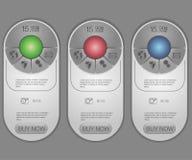 3 знамени тарифов Таблица оценки сети Стоковое фото RF