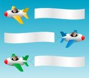 3 знамени тяги самолетов Стоковые Фотографии RF