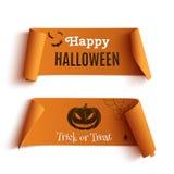 2 знамени хеллоуина, на белизне Стоковые Изображения RF