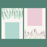 Знамя акварели вектора флористическое Граница притяжки руки травяная Стоковое Фото