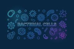 Знамя бактериальных клеток голубое горизонтальное линия снежок иллюстрации предпосылок stripes вектор бесплатная иллюстрация