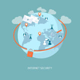 Знамя безопасности интернета Стоковое Изображение RF