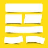 Знамя белой бумаги с тенью падения Стоковое Фото