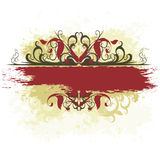 знамя богато украшенный Стоковая Фотография RF