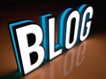 Знамя блога Стоковая Фотография RF