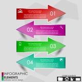 Знамя варианта Infographics Стоковое Изображение