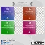 Знамя варианта Infographics Стоковая Фотография