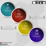 Знамя варианта Infographics Стоковые Фото