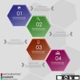 Знамя варианта Infographics Стоковые Изображения RF