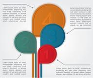 Знамя вариантов Infographics. Вектор Стоковые Фотографии RF
