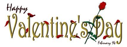 Знамя валентинки Стоковые Фотографии RF