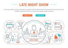 Знамя вебсайта и выставка страницы посадки ночная Стоковые Фото