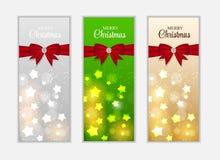 Знамя вебсайта рождества и предпосылка карточки Стоковые Фотографии RF