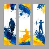 Знамя вебсайта установленное для концепции спорт Стоковое Фото