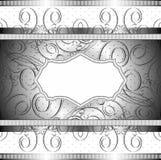 Знамя вектора богатое в черноте Стоковое Изображение