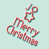 Знамя вектора с Рождеством Христовым бесплатная иллюстрация